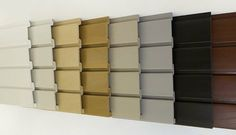 slat wall colors to choose from