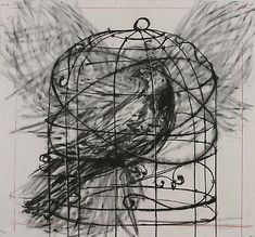 William Kentridge DRAWING FROM 'PREPARING THE FLUTE' (BIRD IN CAGE), 2005