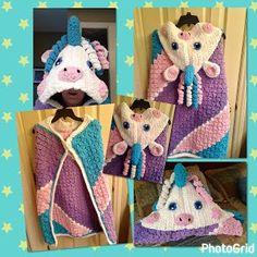 "The Perfect Stitch...: Crochet ""My Unicorn"" Blanket/Pillow"