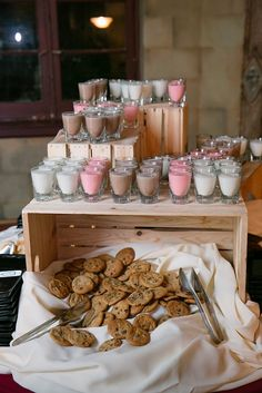 Cookies & Milk Bar!  we ❤ this!  moncheribridals.com  #weddingsweetstable #weddingdesserts #weddingcookiesandmilk
