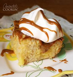 This crock pot cake is also a poke cake, so I couldn't resist trying it. Making cake in the crock pot is easy and this one is delicious!