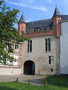 Prinsenhof in Gent waar keizer Karel V is geboren op 24 februari 1500.