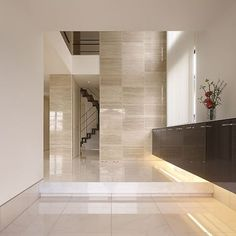 Lobby Design, Entrance Design, Empty Room, Home Room Design, Floor Finishes, Modern House Design, House Rooms, Fixer Upper, House Plans