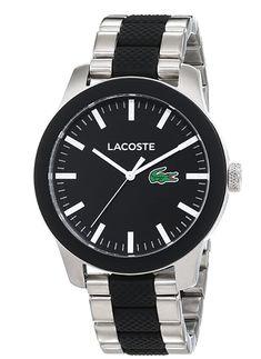 Schwarz Silber, Silikon/Edelstahlarmband, #Geschenkidee #Lacoste #Armbanduhr Lacoste, Crocodile, Sweatshirt Homme, Omega Watch, Watches, Amazon, Accessories, Trends, Fashion