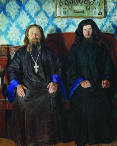 Oil painting reproduction: Boris Kustodiev Portrait Of A Priest And A Deacon 1907 Russian Painting, Russian Art, History Of Literature, Ukrainian Art, Art Database, Oil Painting Reproductions, Priest, Art And Architecture, Les Oeuvres