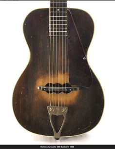 Vivitone Acoustic 580 Sunburst 1936 from Chicago Music Exchange Archtop Guitar, Guitar Rig, Music Guitar, Cool Guitar, Playing Guitar, Acoustic Guitars, Guitar Players, Ukulele, Rare Guitars