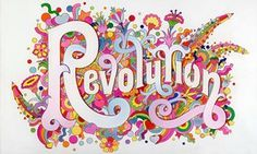 Image Credit: The Beatles Illustrated Lyrics, 'Revolution' 1968 by Alan Aldridge © Iconic Images, Alan Aldridge You Say You Want a Revolution?: Records and Rebels the exhibition showing … Victoria And Albert Museum, Pink Floyd, Woodstock, Flower Power, Light Fest, V & A Museum, London Design Festival, The V&a, Expo