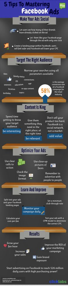 [Infographic] 5 Tips To Mastering #Facebook #Ads