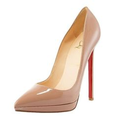 Christian Louboutin Pointed Toe Nude Heels