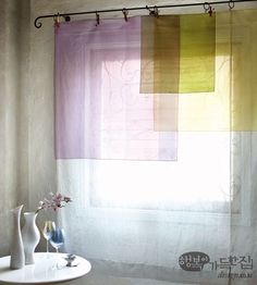Not solid wall: imagined wall of thoughts Layering colours to symbolise duality, multiplicity Deco Studio, Interior And Exterior, Interior Design, Home Upgrades, Curtains With Blinds, Home Living, Window Coverings, Interior Inspiration, Decoration