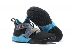 Nike LeBron Soldier 12 South Beach Black Grey Pink Blue Men s Basketball  Shoes James Trainers Lebron 554dcf943