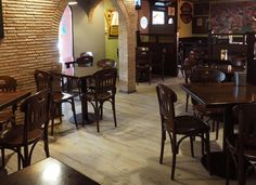 Pub Sagari (TV) - SINTESY CONNECT 55-G SAWN OAK #skema #italiandesign #pavimento #sintesy #decking #flooring #connect Modern Flooring, Decking, Connect, Restaurants, Tv, Home Decor, Parquetry, Decoration Home, Room Decor