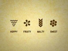 Beer Icons by Natalie Doud. (Consider graphical ways to communicate the flavors of beer)