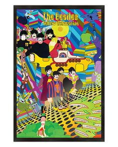 PTM Images 'The Beatles Yellow Submarine' Framed Poster