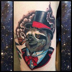 Tattoo New Traditional Shark Tattoos, Animal Tattoos, Cute Tattoos, Body Art Tattoos, Tattoo Drawings, Sloth Tattoo, Tattoo You, Tattoo Ideas Tumblr, Polar Bear Tattoo