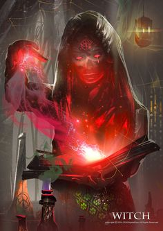 Witch, Bigball Gao on ArtStation at https://www.artstation.com/artwork/ren6e