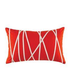 "Kas Australia Trapeze Wires Decorative Pillow, 14"" x 21"""