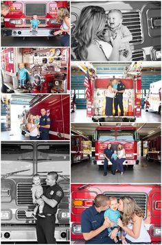 Fire station family photos