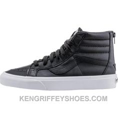 3e3d5cf690 Vans Premium Leather SK8-Hi Reissue Zip (Mens) - Black True White RNCJF