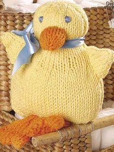 free knitting pattern duck
