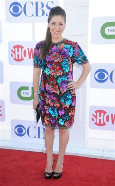 Actress Mayim Bialik. I love her and this dress!!!