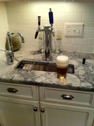 Home Brew on draft in the kitchen.