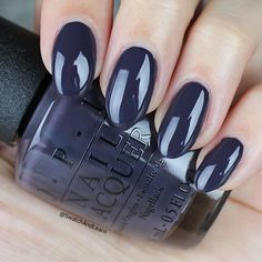 #SuziAndTheArcticFox: a vampy blue for foxy nails from the #OPIIceland Collection! (See collection swatches on SwatchAndLearn.com.) #opi #opiobsessed #nails #mani