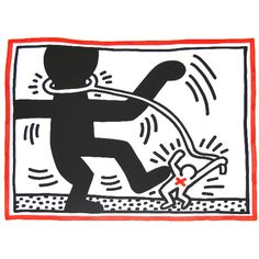 Free South Africa series by Keith Haring