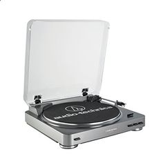 Audio-Technica Direct-Drive Professional Turntable - Convert your vinyl records to digital audio files with Audacity; Mac- and PC-compatible Built-in switchable phono pre-amplifier with RCA output cables to connect to audio systems and powered speakers Fully automatic belt-aturntable operation with two speeds: 33 1/3, 45 RPM