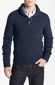 Façonnable Shawl Collar Henley Sweater