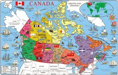 canada on Pinterest | maps, postcards and usa maps Canada Travel Maps