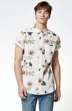 Miller Floral Pocket Short Sleeve Button Up Shirt