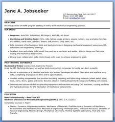Superb Mechanical Engineering Resume Template Entry Level