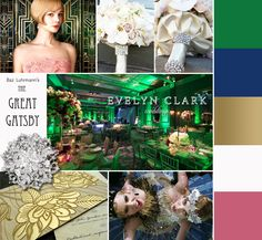 Great Gatsby wedding inspiration | Evelyn Clark Weddings...Yes these are my colors!!