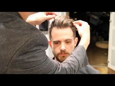 Pompadour - How to Style the Pompadour - pompadour hair style tutorial - YouTube