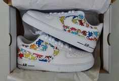 Nike Air Force One Personalizzate Keith Haring Omini