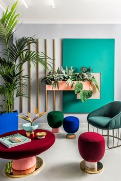 colourful avant garde living room