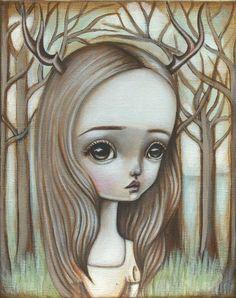 Deer Girl by Lauren Saxton (Fair Rosamund Art)