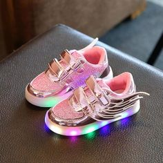 4b2059ece0b 2016 new arrive Kids LED Luminous shoes wings boys girls sneakers children  casual sport shoes toddlers