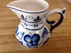 Vintage Russian Hand Painted Porcelain creamer/jug/vase