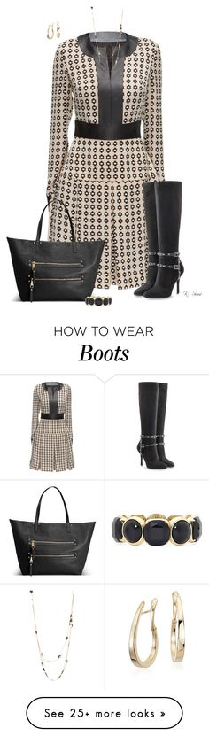 """""""Boots!"""" by ksims-1 on Polyvore featuring Lattori, Valentino, Avenue, Monet, Alexis Bittar and Blue Nile"""