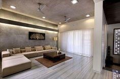 minimalistisches Wohnzimmer Marmor-Bodenbelag