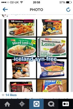 Iceland - all sw free slimming world shopping list, slimming world dinners, iceland slimming Slimming World Shopping List, Slimming World Syns List, Slimming World Survival, Slimming World Syn Values, Slimming World Diet Plan, Slimming World Treats, Slimming World Dinners, Slimming World Recipes Syn Free, Iceland Slimming World Meals