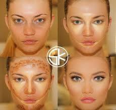 Resultado de imagen para contour makeup before and after