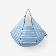 Kate Spade Saturday Origami Tote in Lined Stripe - ShopStyle Kate Spade New York® Official Site - Designer Handbags, Clothing, Jewelry & Patchwork Bags, Quilted Bag, Sacs Tote Bags, Triangle Bag, Origami Bag, Kate Spade Saturday, Denim Bag, Fabric Bags, Market Bag