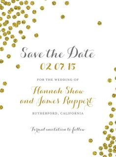 Gilded Grace:Blush Save the Date cards