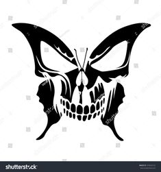 Find Butterfly Skull Tattoo stock images in HD and millions of other royalty-free stock photos, illustrations and vectors in the Shutterstock collection. Thousands of new, high-quality pictures added every day. Skull Butterfly Tattoo, Skull Tattoo Design, Skull Design, Skull Tattoos, Body Art Tattoos, Butterfly Stencil, Trible Tattoos, Maori Tattoos, Design Art