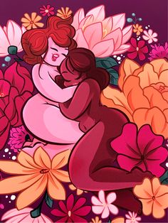 Flower nude I is part of a sweet intersectional feminism art print collection, but is also a feminist and body positive illustration, the perfect wall art for queer and lgbtq, to offer as a gift or for yourself. Queer Art, Feminist Art, Positive Kunst, Body Positive Art, Fat Positive, Art Lesbien, Art Positif, Body Image Art, Dibujos Pin Up