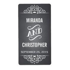 Chalkboard Personalized Wedding Favor Labels