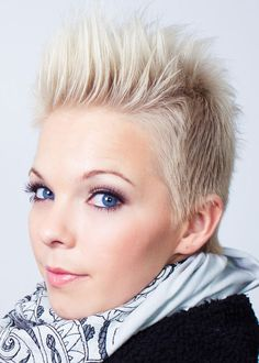 Spiked Up Icy Blonde